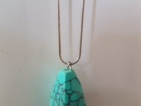 Beautiful long turquoise necklace Crystal