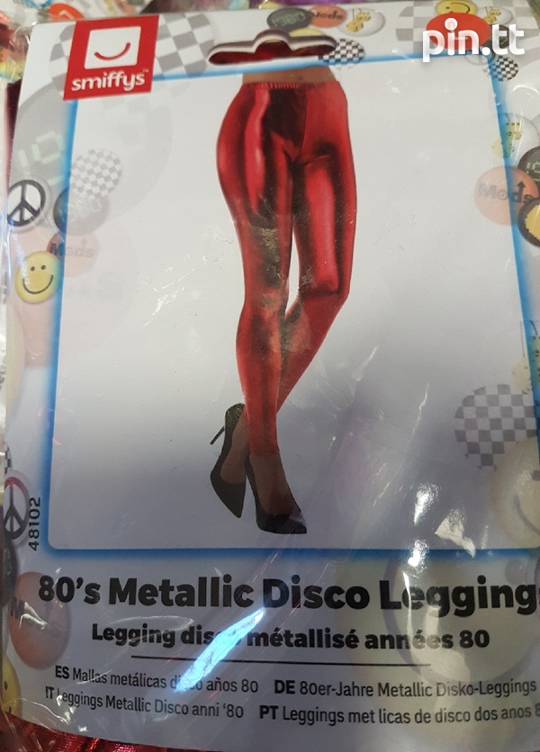 Metallic disco leggings