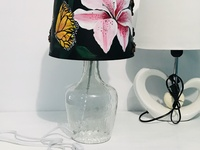 Ariel Francis Painted lampshade acrylic paints