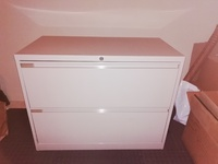 Two Drawer Filing Cabinet with Lock - Reduced