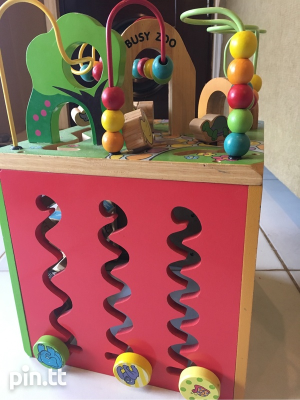 Wooden Busy Zoo Toy Box-2