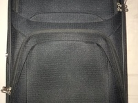 Black Carry-On Suitcase with Built-In Lock