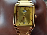 Swiss Sunborn 23Karat Gold Plated Mens Diamond Watch Read Details