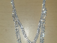 Icy necklace and earrings
