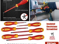 Insulated Electricians Screwdriver