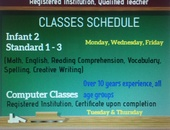 Tutoring Primary Education /Computer Classes
