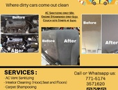 Steamcleaning and interior detailing