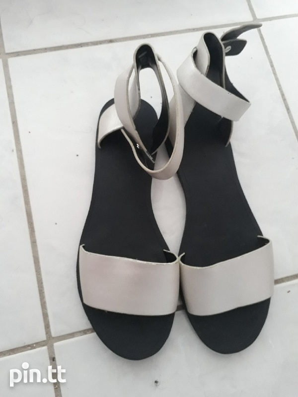 New silver sandals