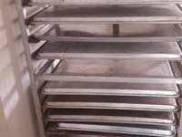 Baking rack with some trays