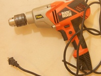 Black and Decker Drill, 7 Amps, Excellent Condition