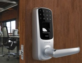 Say goodbye to keys. With our new smart door lock system.