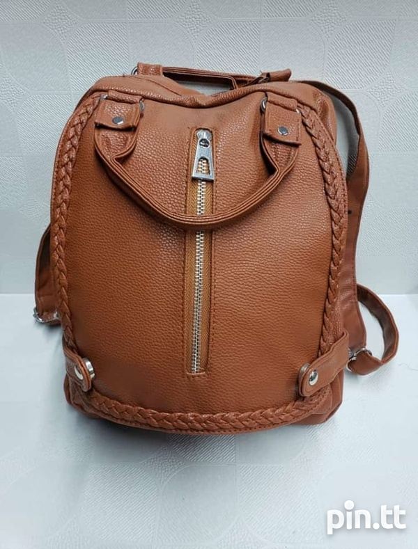 back pack and 3 pc handbag-5