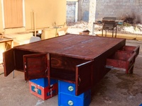 Full Size Wooden Bed Base