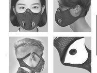 KN95 activated carbon filter mask