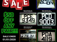Number Plate Christmas Sale