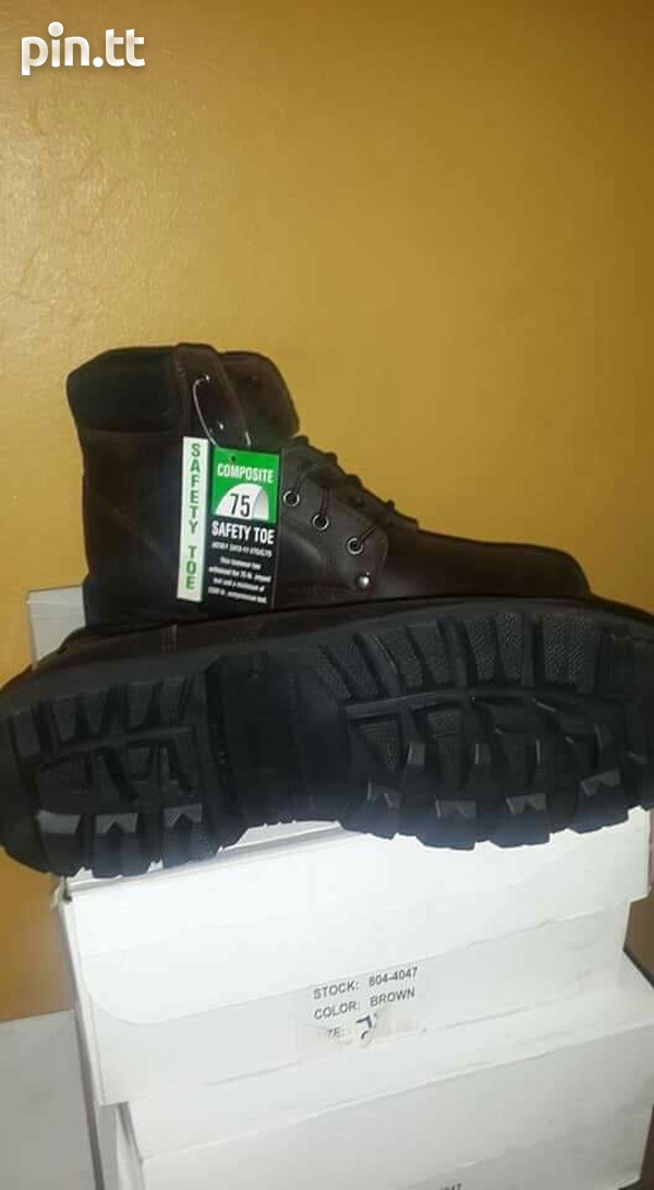 New steel tip work boots-2