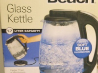 Hamilton beach 1.7 litres glass kettle