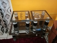 3 piece glass table