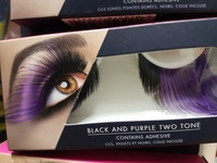 Beautiful lashes with adhesive 2