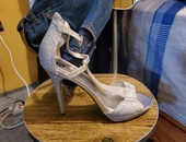 Silver heels only worn once