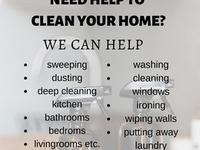 House cleaning and maintenance