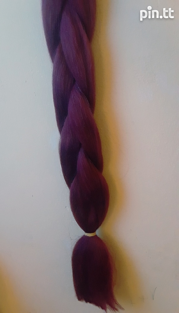 2 Toned and solid colour Synthetic Braiding Hair-8