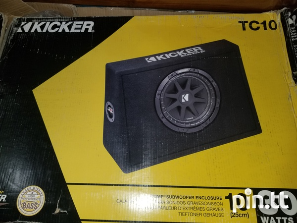 Kicker 10 inch subwoofer in box-1