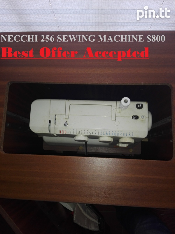 NECCHI 256 SEWING MACHINE IN WOODEN CABINET-1