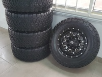 Jeep Fuel lethal wheels and BFG all terrain tyres
