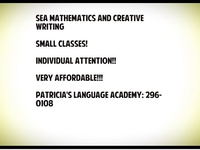 SEA Mathematics and Creative Writing Classes