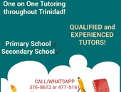 One on One Tutoring any where in Trinidad