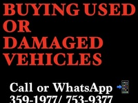 BUYING USED AND DAMAGED VEHICLES
