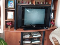 Space saver for 36 inch television