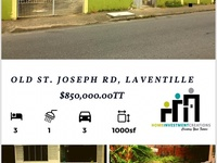 Old Street, St. Joseph Rd, Laventille House with 3 Bedrooms