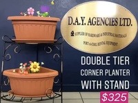 Double Tier Corner Planter