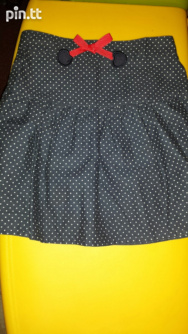 Girl's Short Polka dot Skirt-2