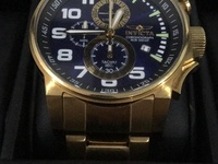Invicta 24K gold plated watch