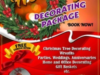 Christmas decorating services for homes or offices