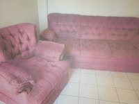Used red 2PC couch set