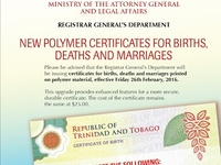 NEW POLYMER BIRTH CERTIFICATE SERVICE