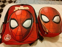 Spiderman bag and lunch bag